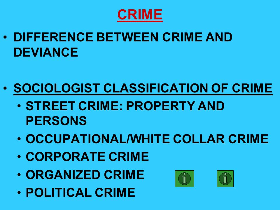 CRIME DIFFERENCE BETWEEN CRIME AND DEVIANCE