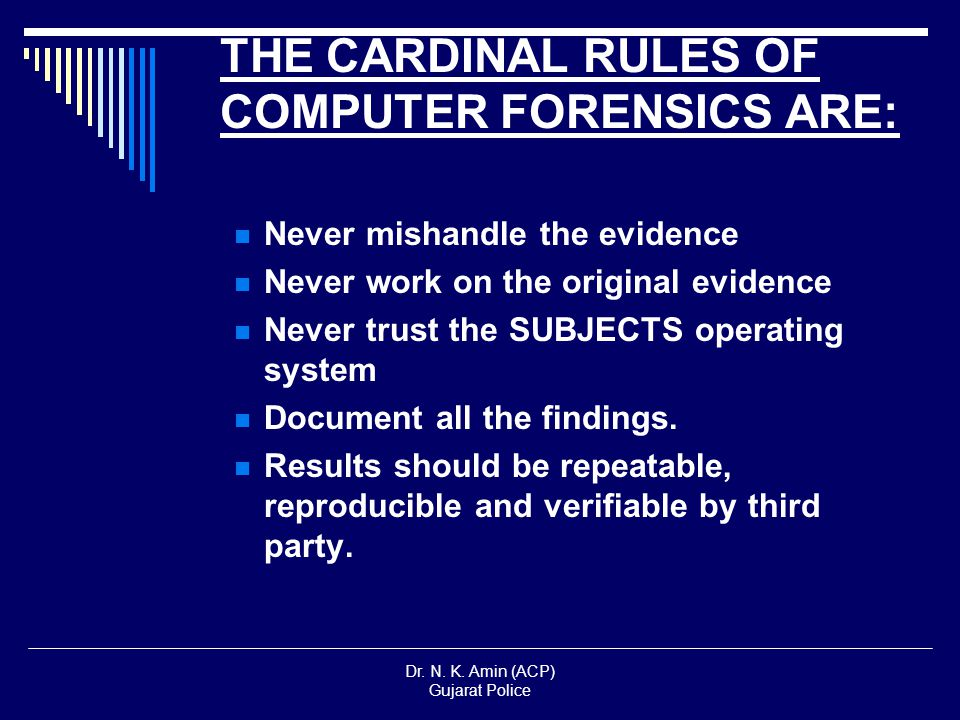 the detection and prevention of computer crimes It can be used in the detection and prevention of crime and in any dispute where evidence is  computer forensics world a computer.
