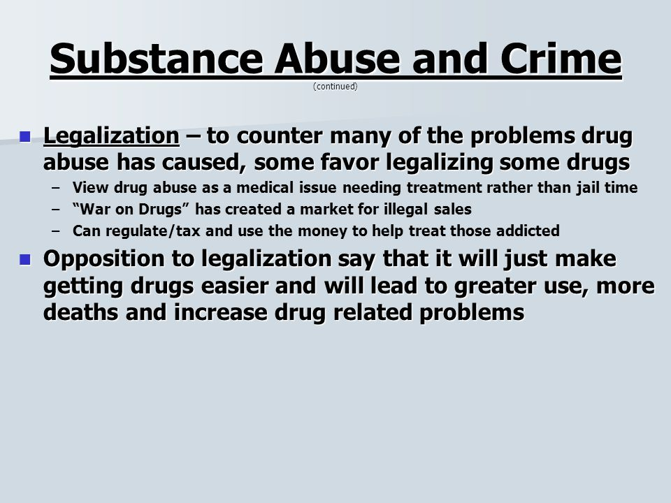 a look at the crimes caused by drug abusers Home the complex nature of abused substances and getting help for addiction reasons for substance abuse a lot of crime many causes of substance abuse.
