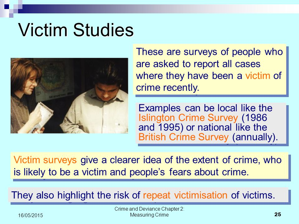 measuring crime 1 lecture 4a measuring crime part i: uniform crime reports (index crimes) part ii self-report surveys part iii victim surveys.