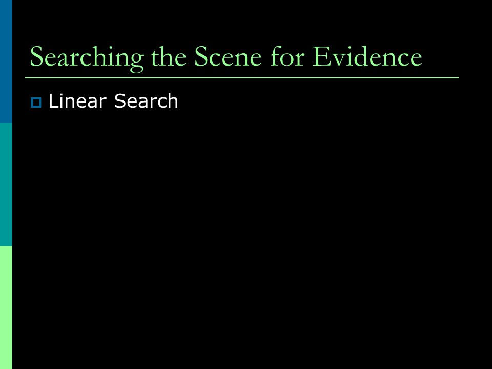 Searching the Scene for Evidence