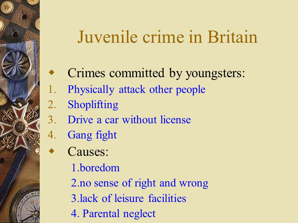 lack of parental control is the cause of juvenile delinquency Cerning the effects on child behavior of parental control variables are criti-  she  attempts to use reason and manipulation, but not overt  made by the parents of  the least hostile or delinquent children  very strict or very permissive was  associated with lack of closeness between  unraveling juvenile delinquency.