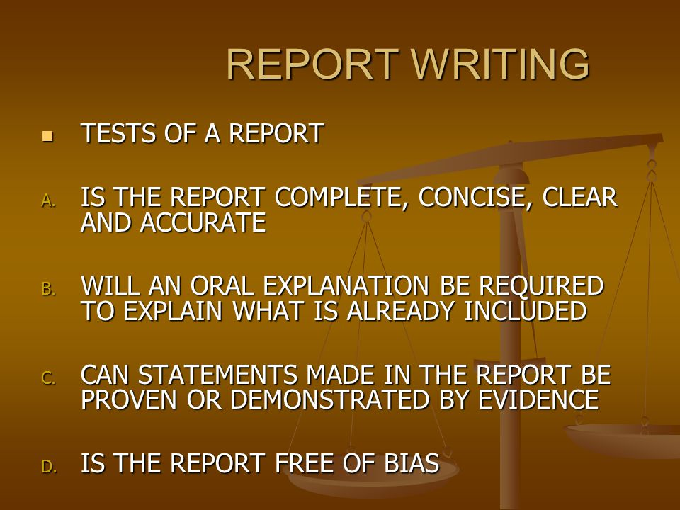 Practice Writing a Report: Scenario 1