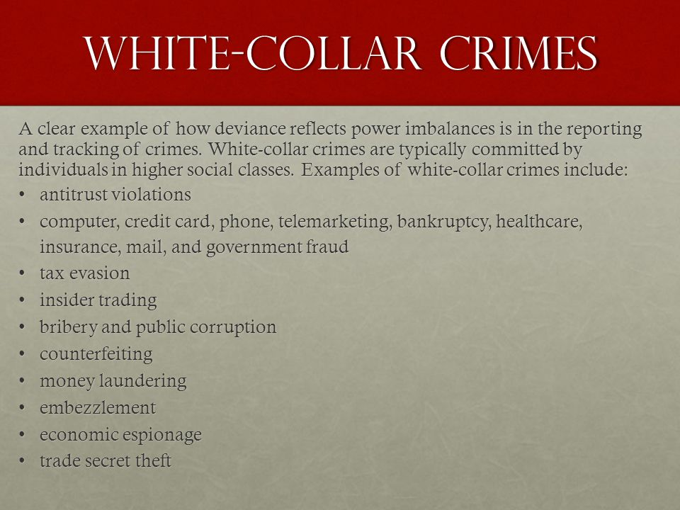 sociology white collar