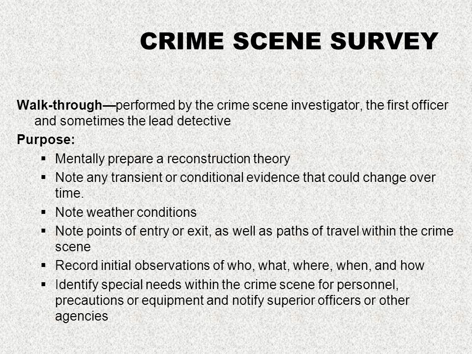 20 crime description of a crime scene investigator - Description Of A Crime Scene Investigator