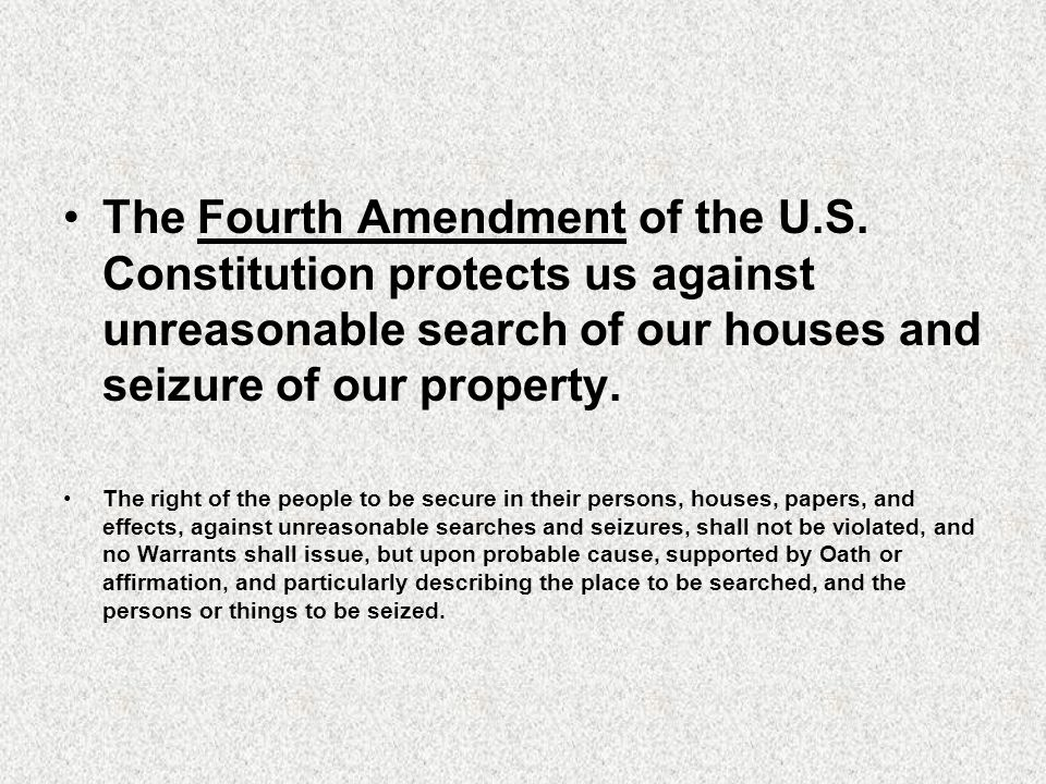 fourth amendment search and seizure essays An essay or paper on the fourth amendment the fourth amendment is a part of the  personal essays  efforts to curtail severely search and seizure authority.