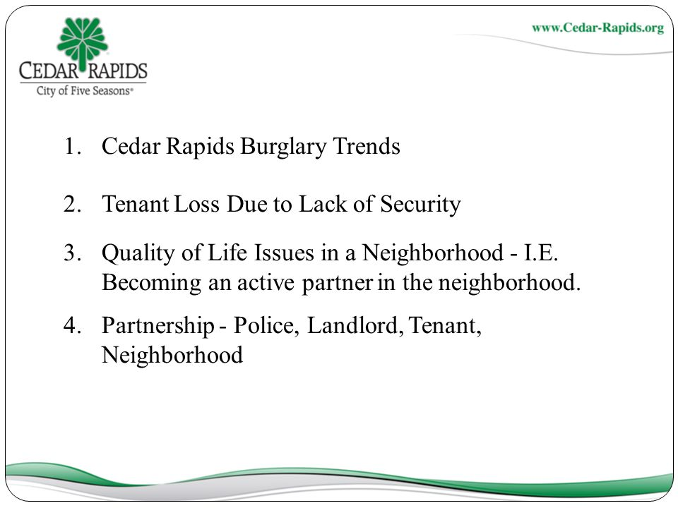Cedar Rapids Burglary Trends