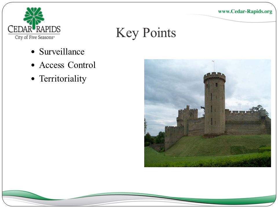 Key Points Surveillance Access Control Territoriality