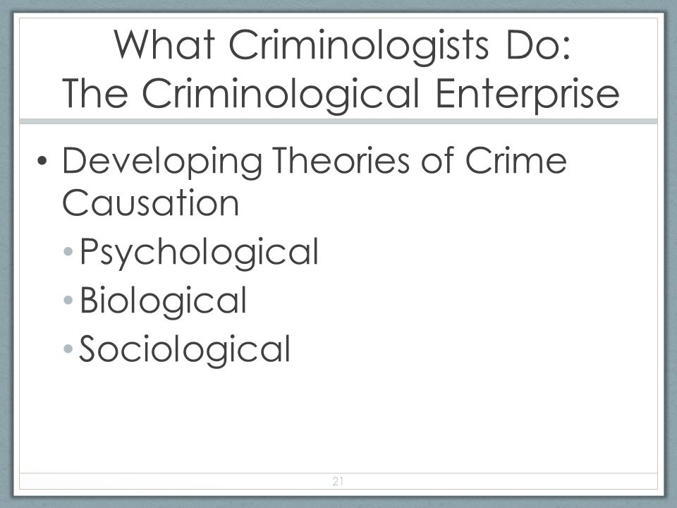 criminological enterprise L01 – explain the various elements of the criminological enterprise l02 – differentiate between crime and deviance l02 – differentiate between crime and deviance.