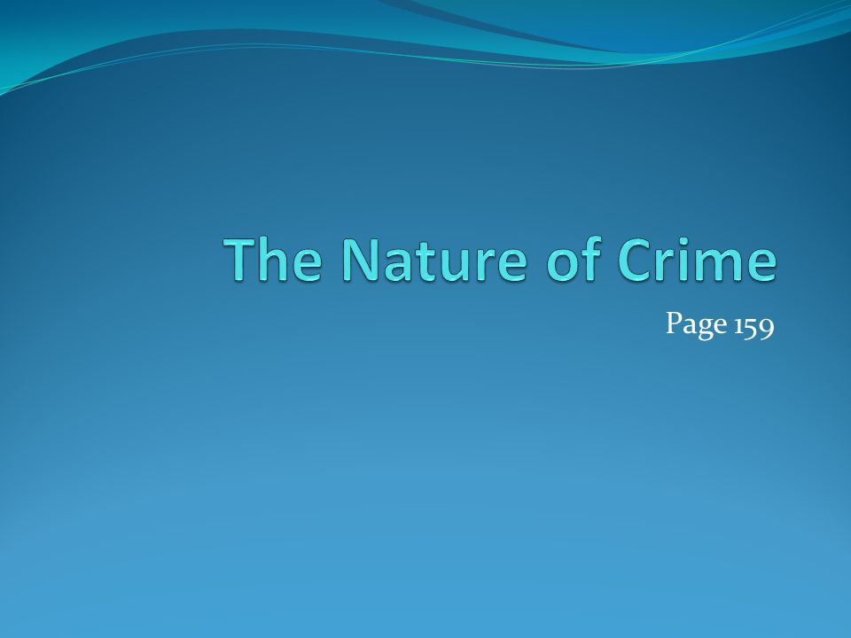 The Nature of Crime Page 159