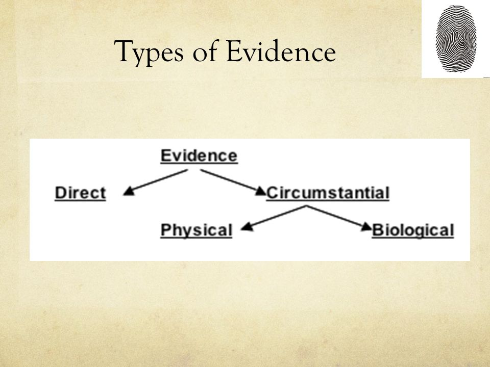 types of evidence Forensic science is made up of several different 'sub-disciplines' or smaller categories of study trace evidence is one of these categories this.