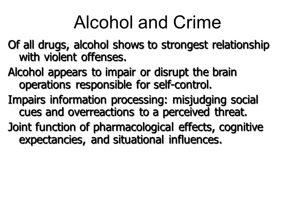relationship between drugs and crime