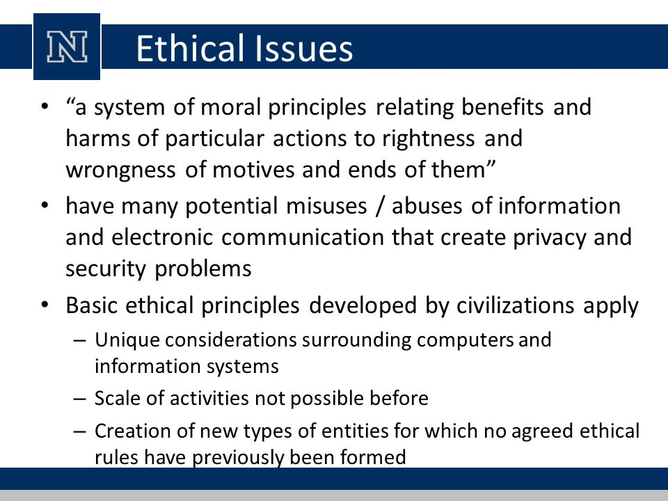 security legal ethical and privacy issues that relate to database systems The issues discussed are the concept privacy, he influence of technology on the processing of personal and private information, the relevance of this influence for the information profession, and proposed solutions to these ethical issues for the information profession.
