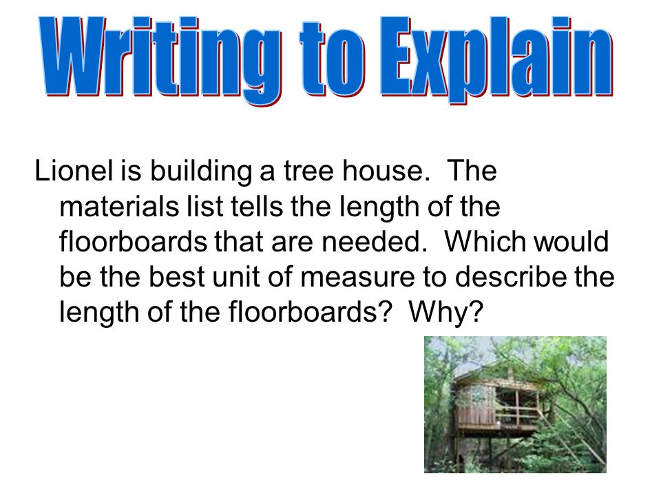 Using customary units of length ppt download for List of materials needed to build a house