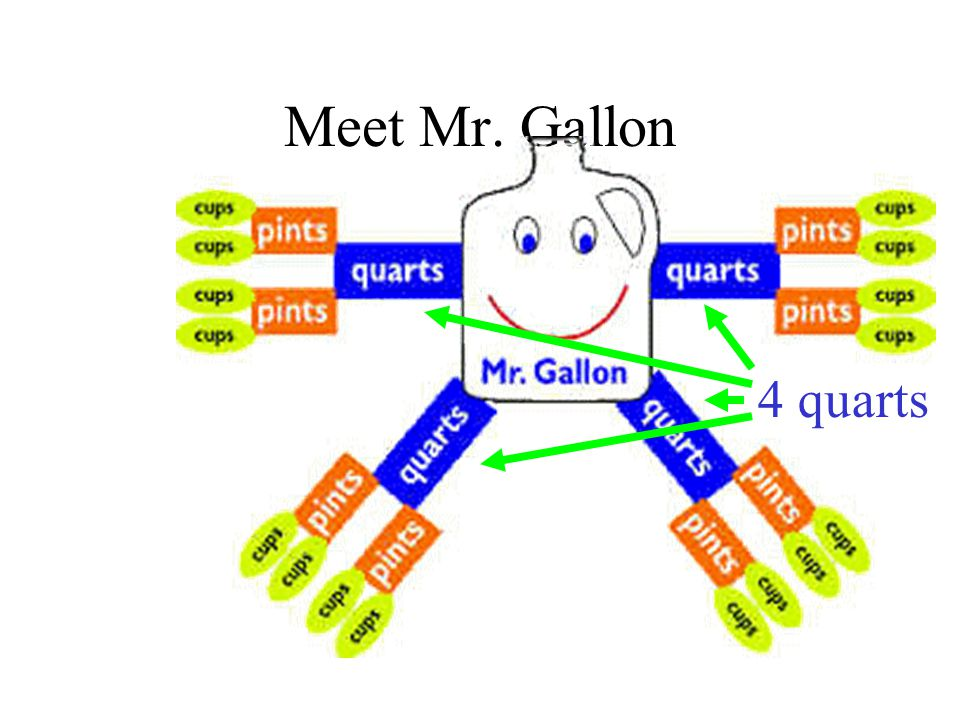 Meet Mr. Gallon 4 quarts