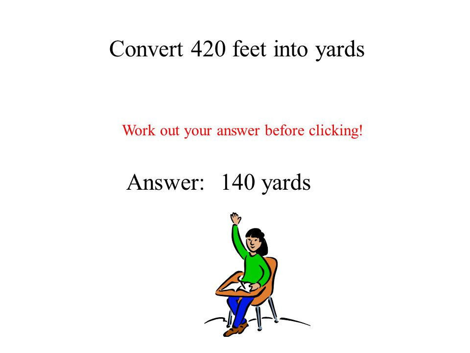 Convert 420 feet into yards