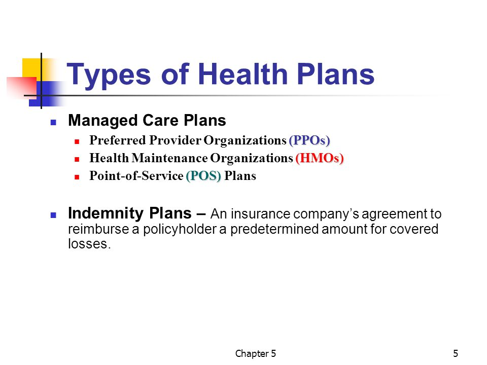 Payment methods managed care and indemnity plans ppt for Preferred plans