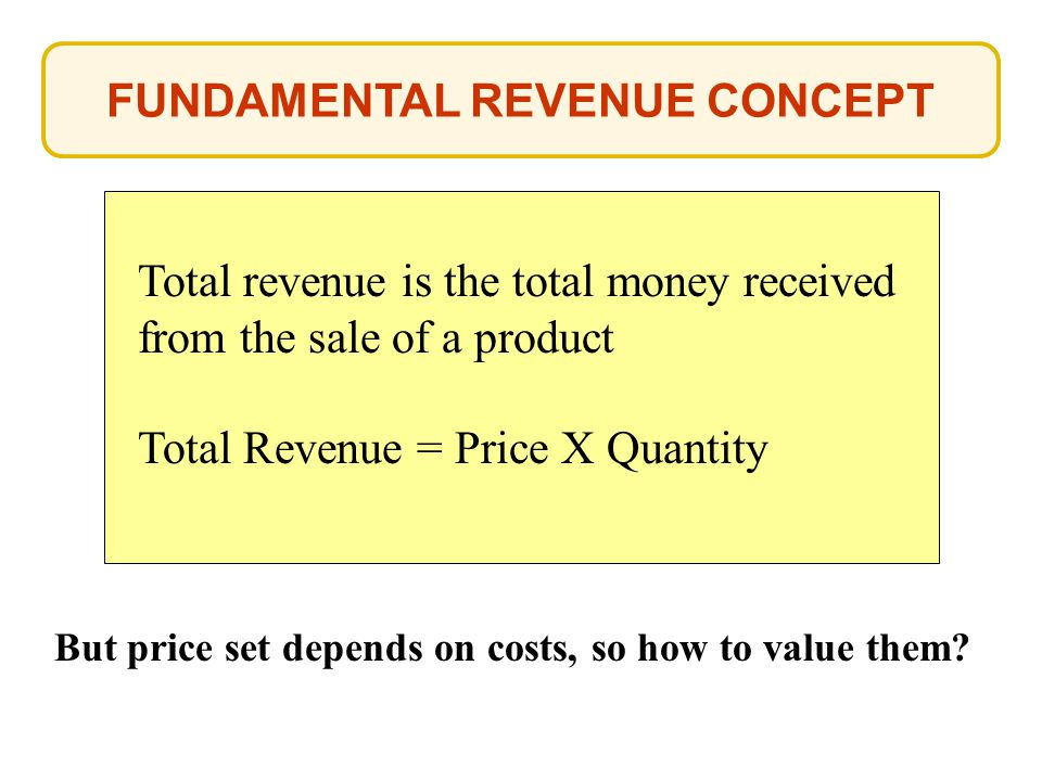 FUNDAMENTAL REVENUE CONCEPT