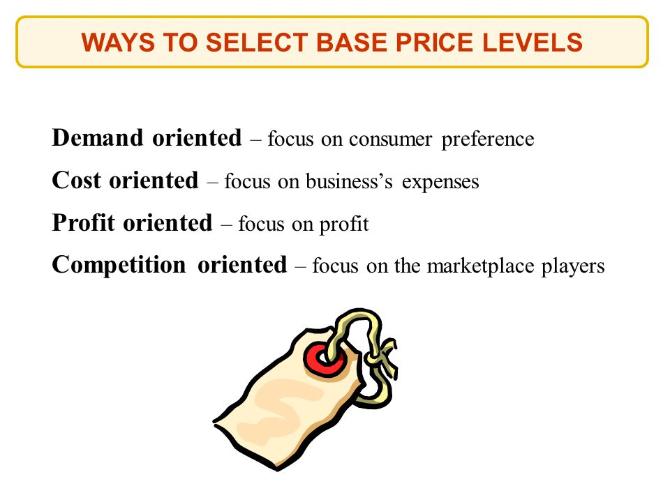 WAYS TO SELECT BASE PRICE LEVELS