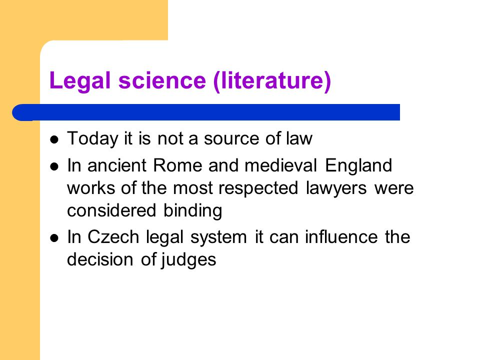 Legal science (literature)