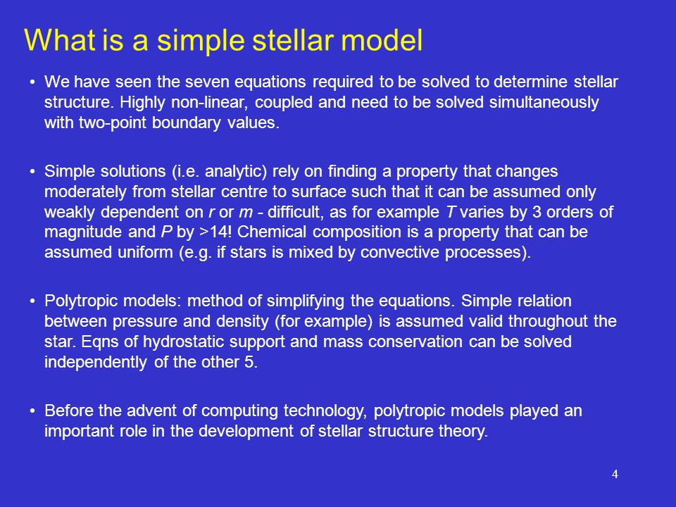 What is a simple stellar model