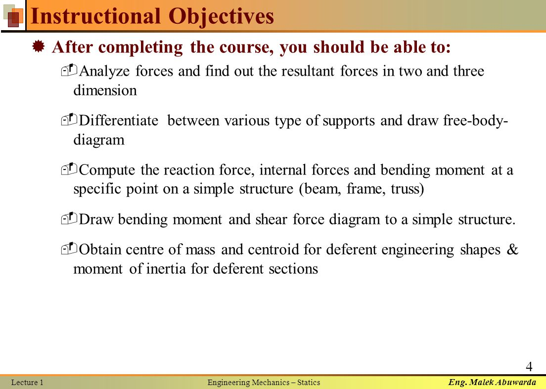 Engineering mechanics statics ppt video online download engineering mechanics statics 4 instructional objectives pooptronica