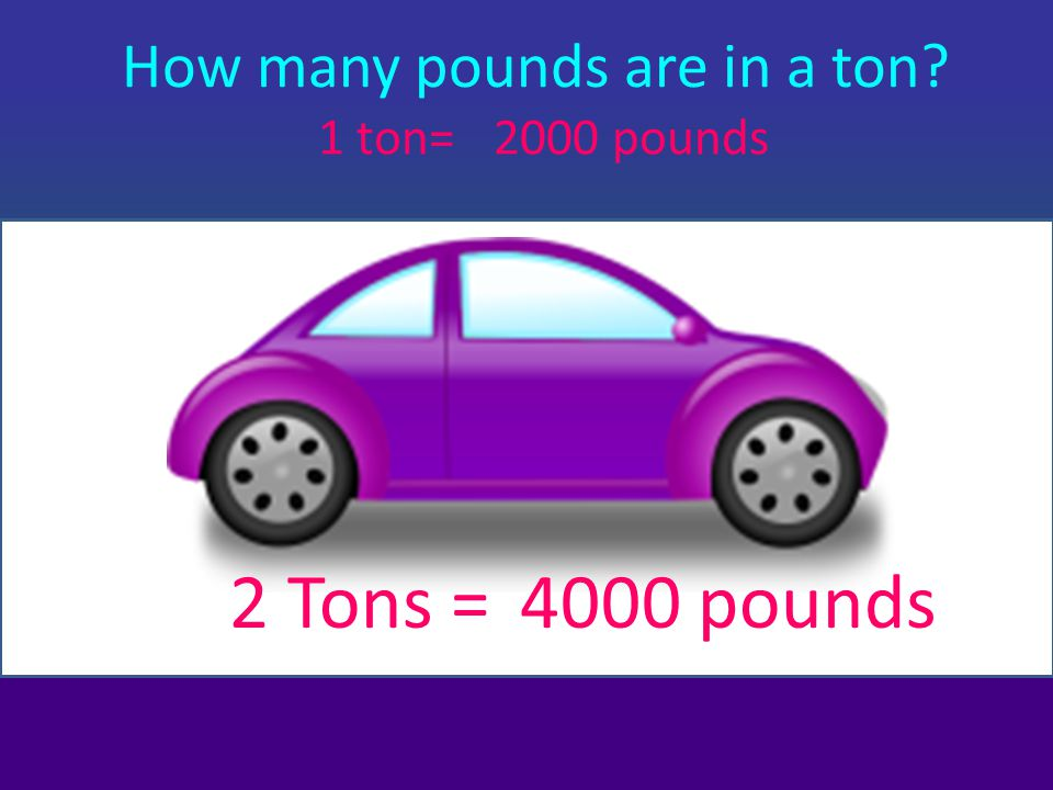 How many pounds are in a ton
