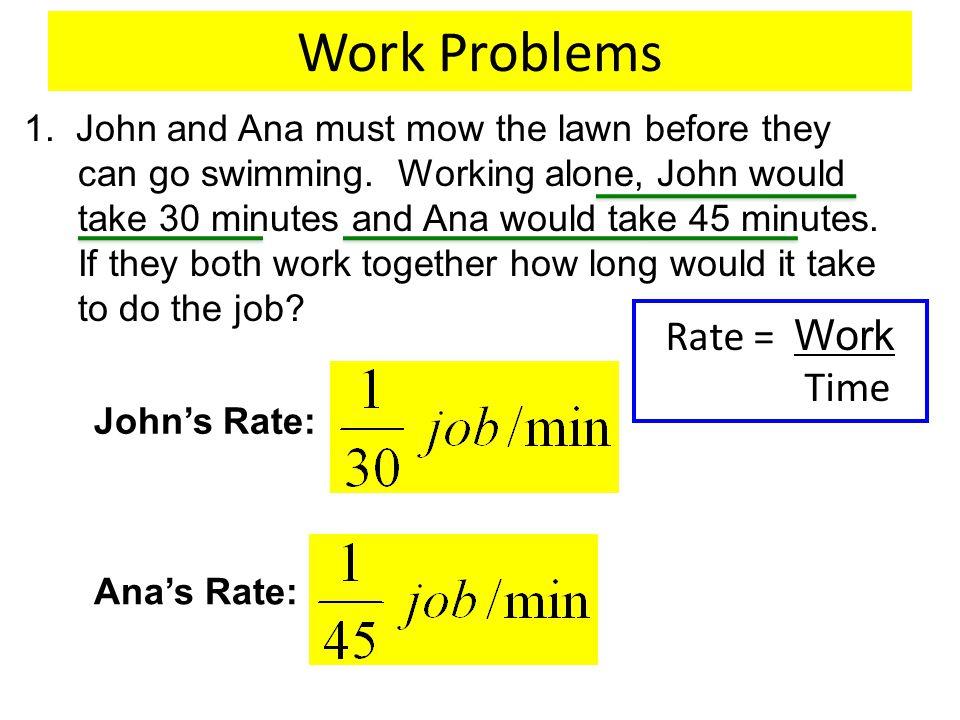Fine How To Solve Work Problems Ensign Worksheet