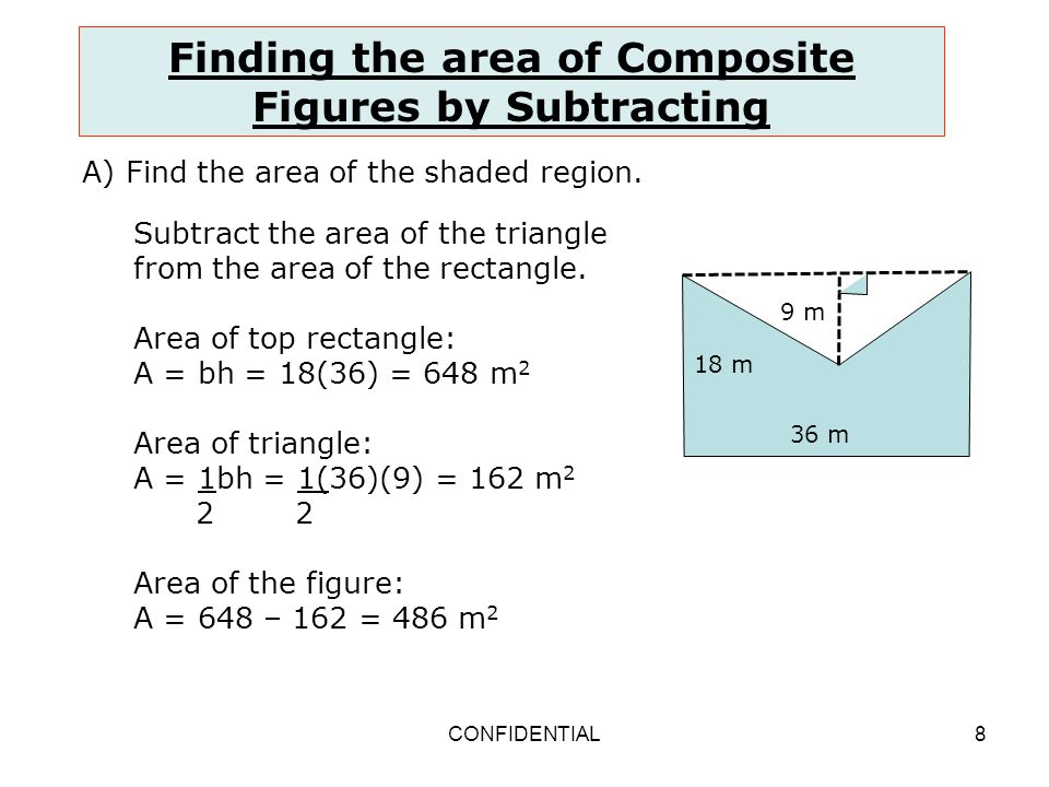 how to solve area of composite figures