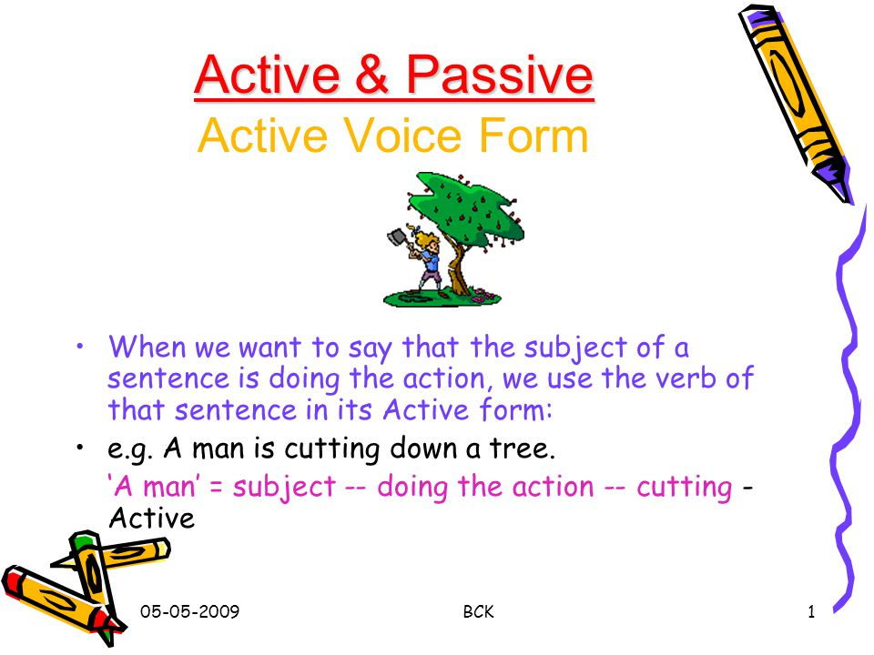 Active & Passive Active Voice Form