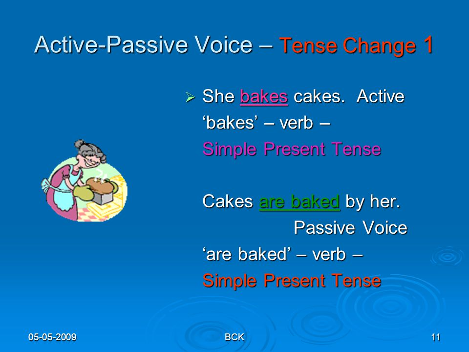Active-Passive Voice – Tense Change 1