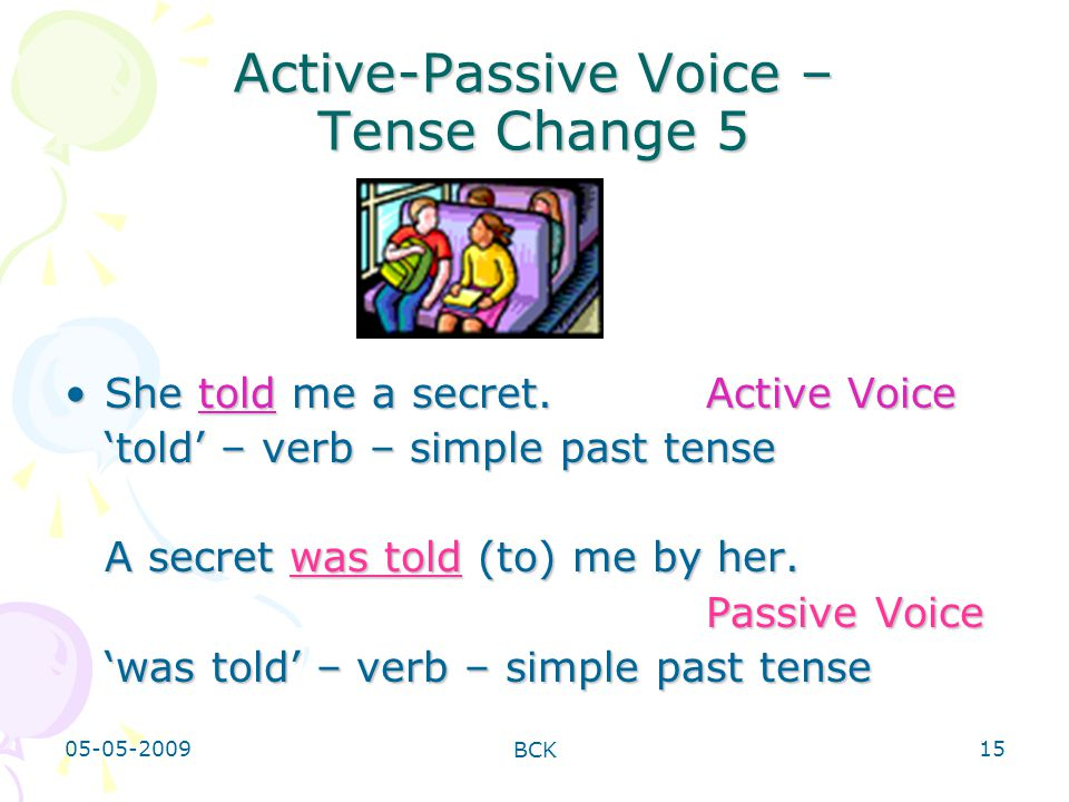 Active-Passive Voice – Tense Change 5