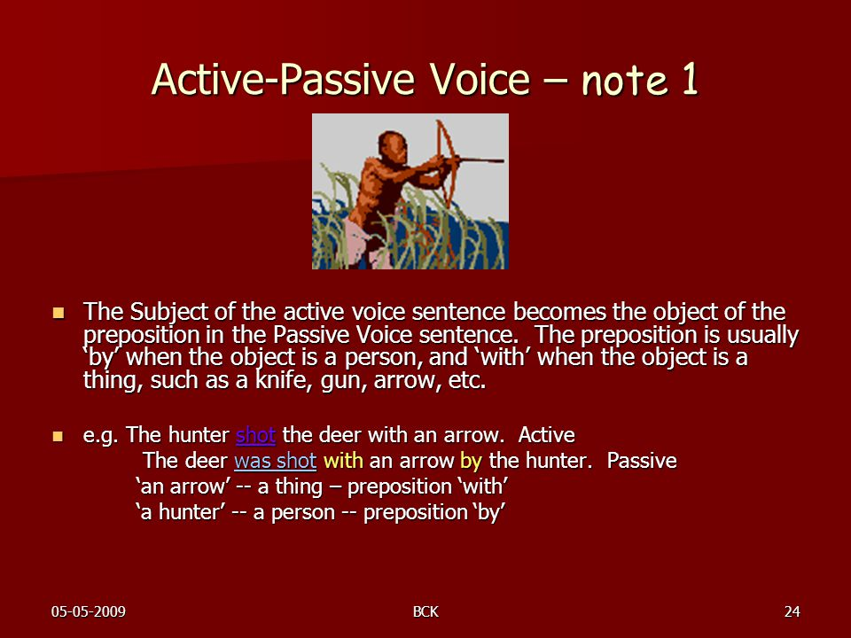 Active-Passive Voice – note 1