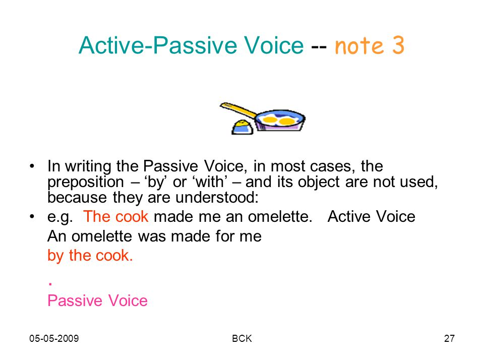 Active-Passive Voice -- note 3
