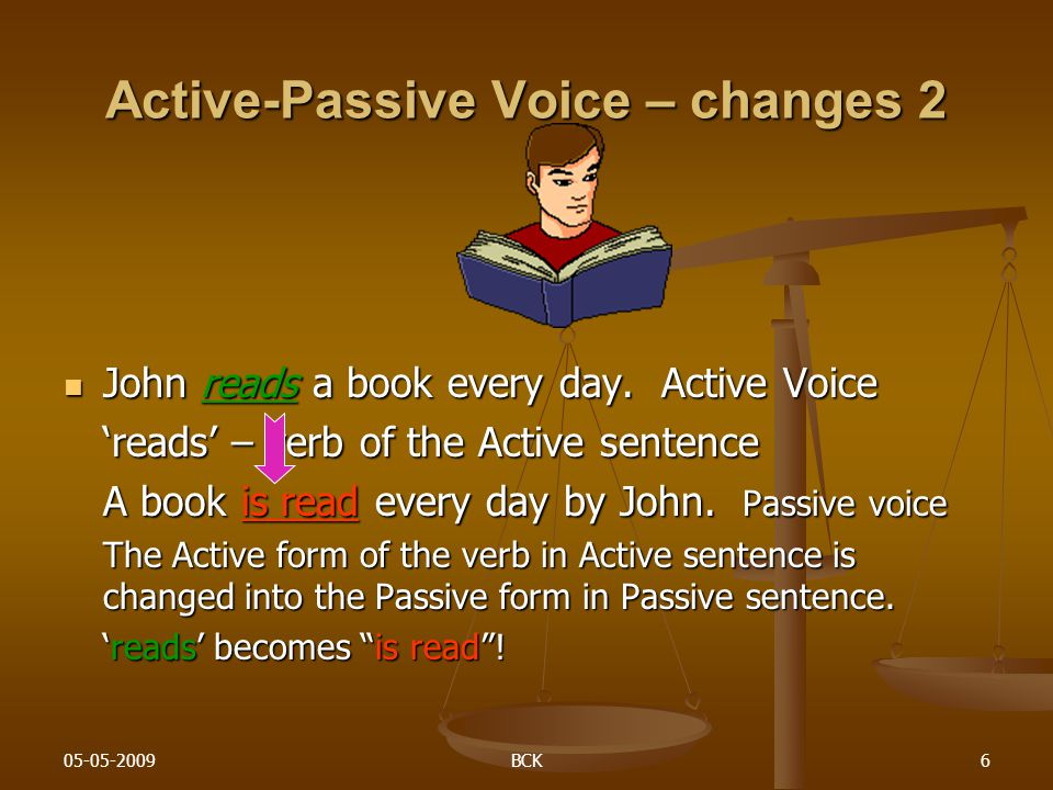 Active-Passive Voice – changes 2