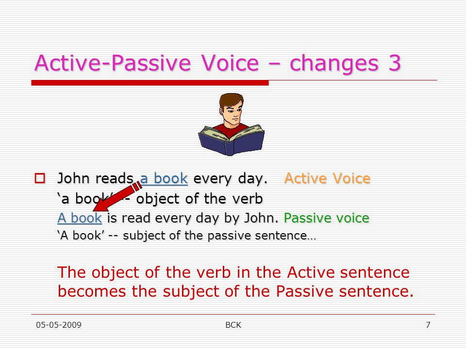 Active-Passive Voice – changes 3