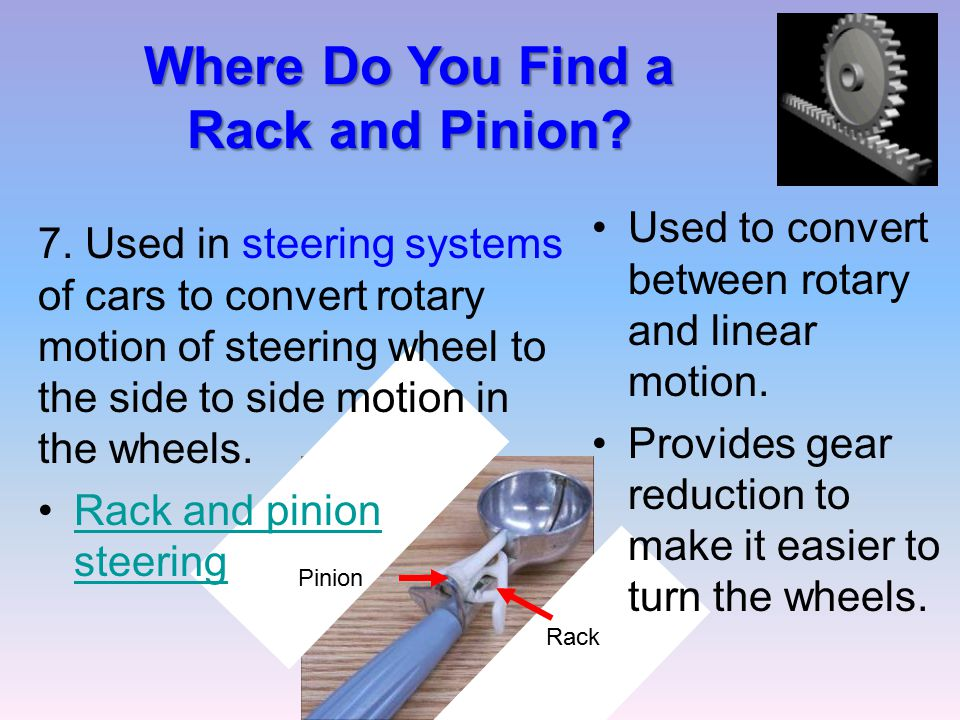 Where Do You Find a Rack and Pinion