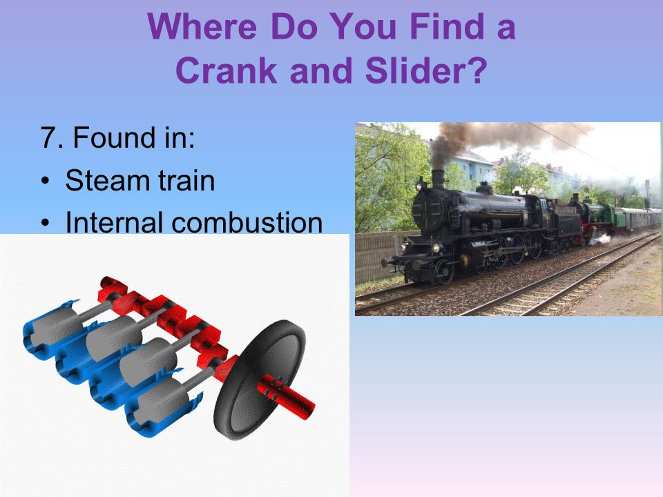 Where Do You Find a Crank and Slider