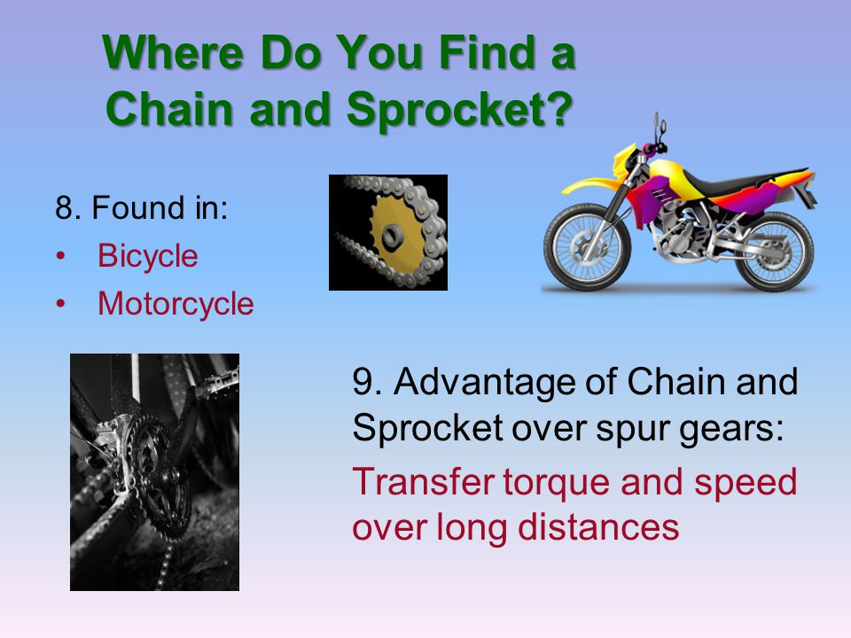 Where Do You Find a Chain and Sprocket