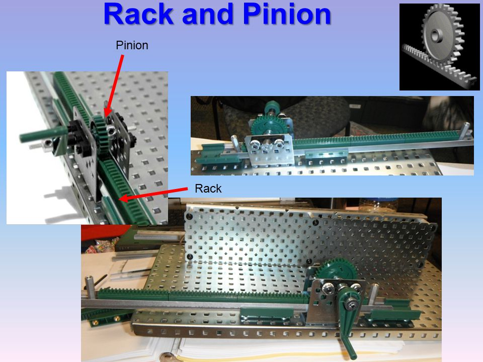 Rack and Pinion Pinion Rack Mechanisms Gateway To Technology®