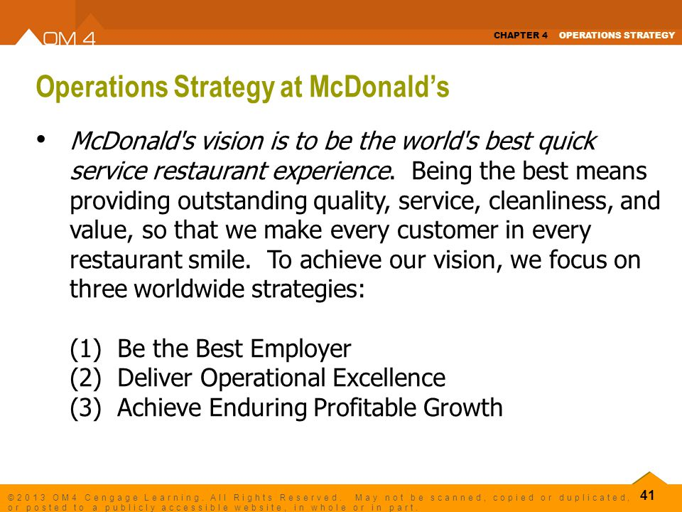 mcdonald s strategy in the quick service restaurant industry Answer to based on what you know about the quick-service restaurant industry, does mcdonald's strategy as described in.