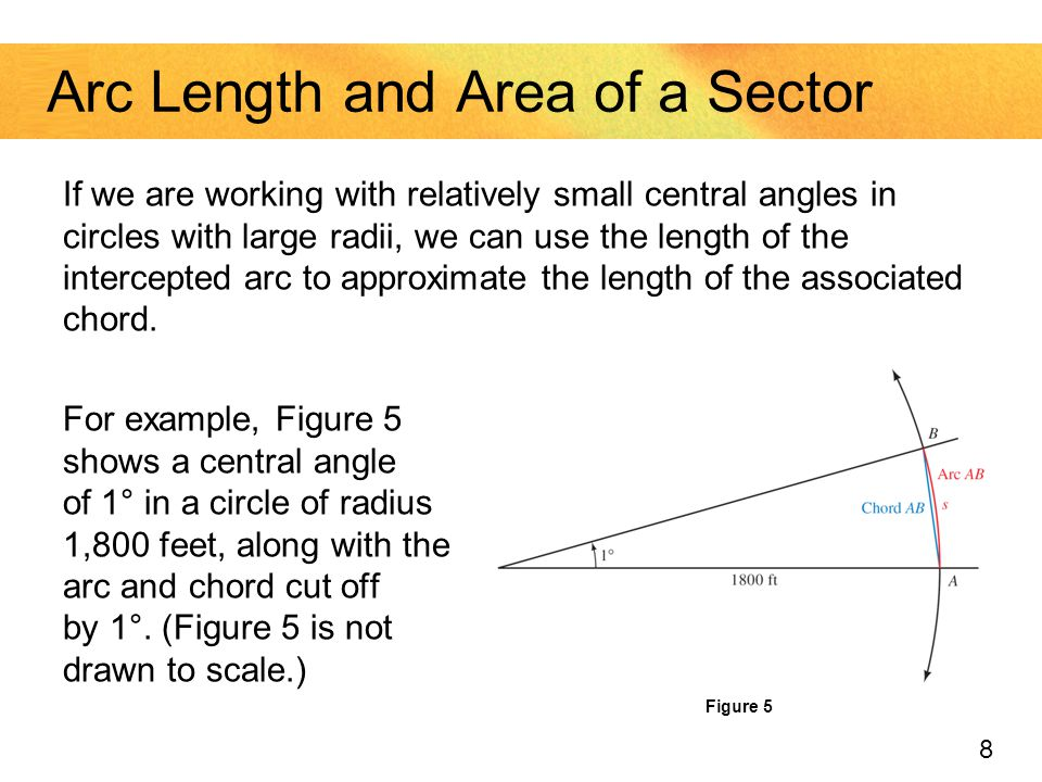 how to work out the radius of a sector
