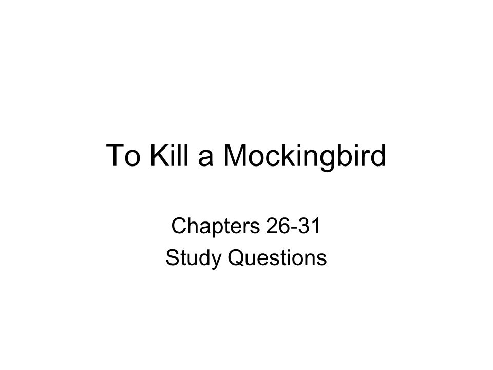 to kill a mockingbird chapter questions Chapter 5 who was laughing in why is it a sin to kill a mockingbird why does scout feel ashamed about atticus to kill a mockingbird study guide questions.