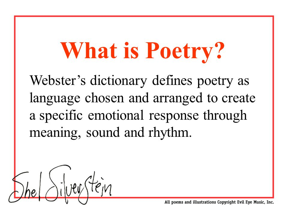 an introduction to poetry with slide 1 intro slide ppt video online download. Black Bedroom Furniture Sets. Home Design Ideas