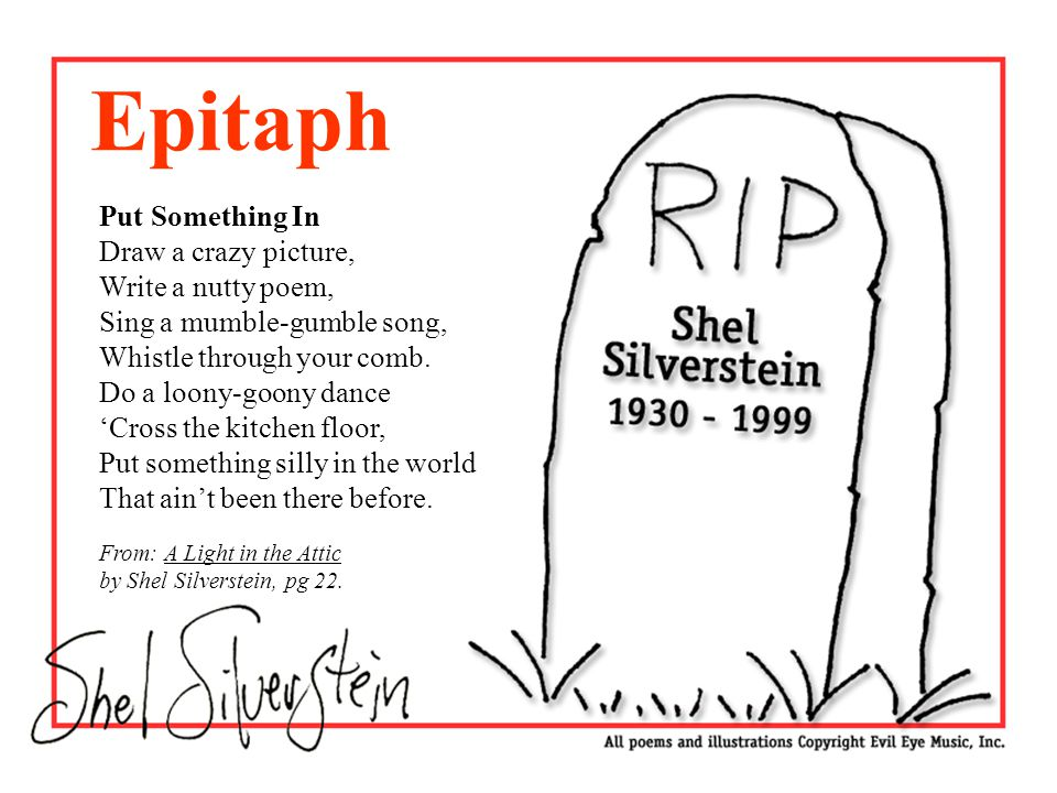 "shel silverstein essay example Eighteen years ago today, shel silverstein, also known as uncle shelby, also  known as  alarcón decided to begin writing poems for children in the 1990s,  when he ""became aware  (she's also written picture books and essay  collections)."