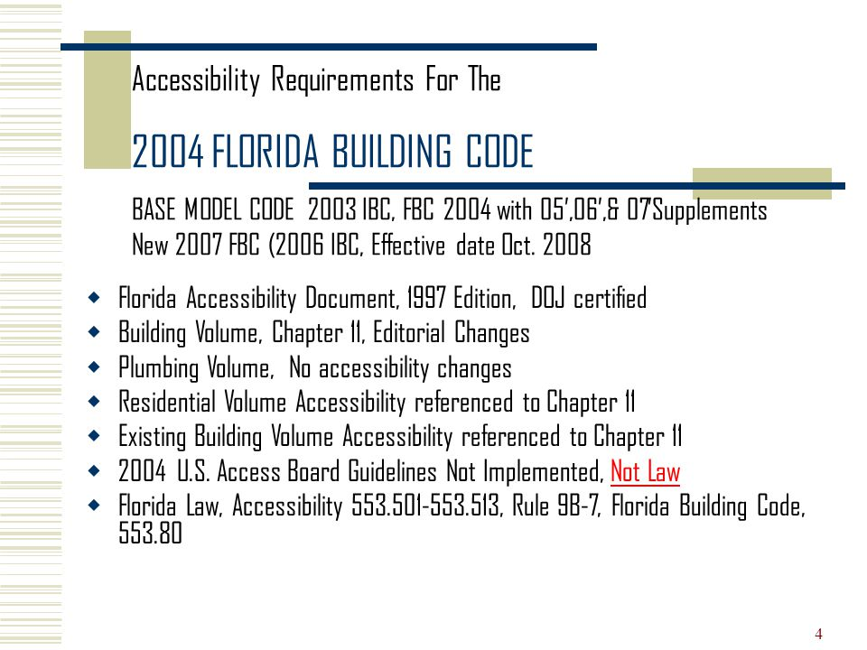 2004 Florida Accessibility Code for Building Construction ...