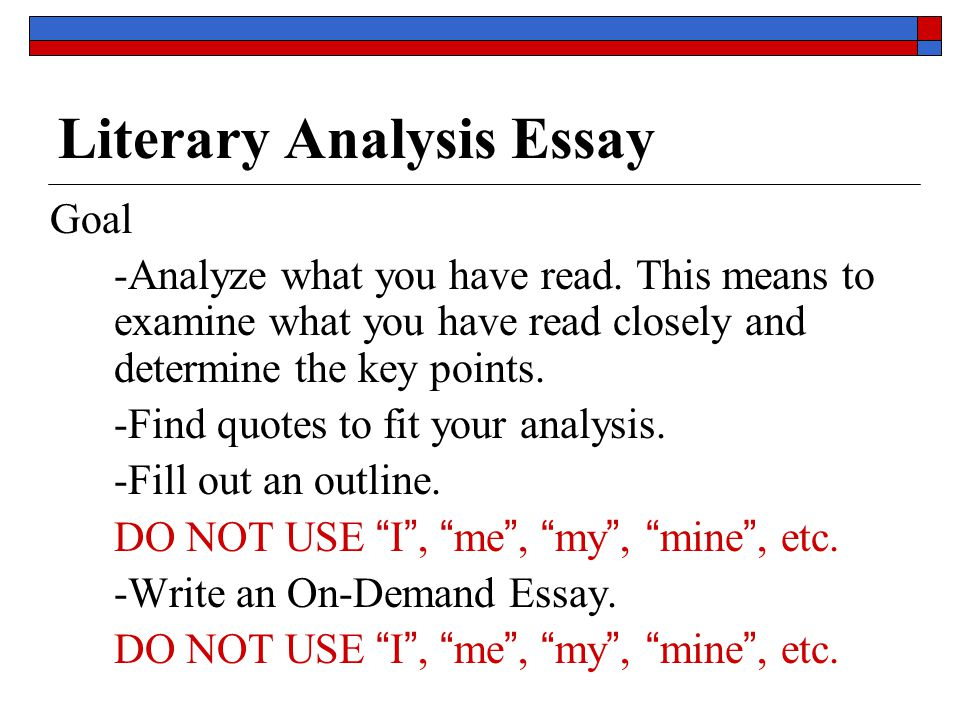 five paragraph essay literary analysis