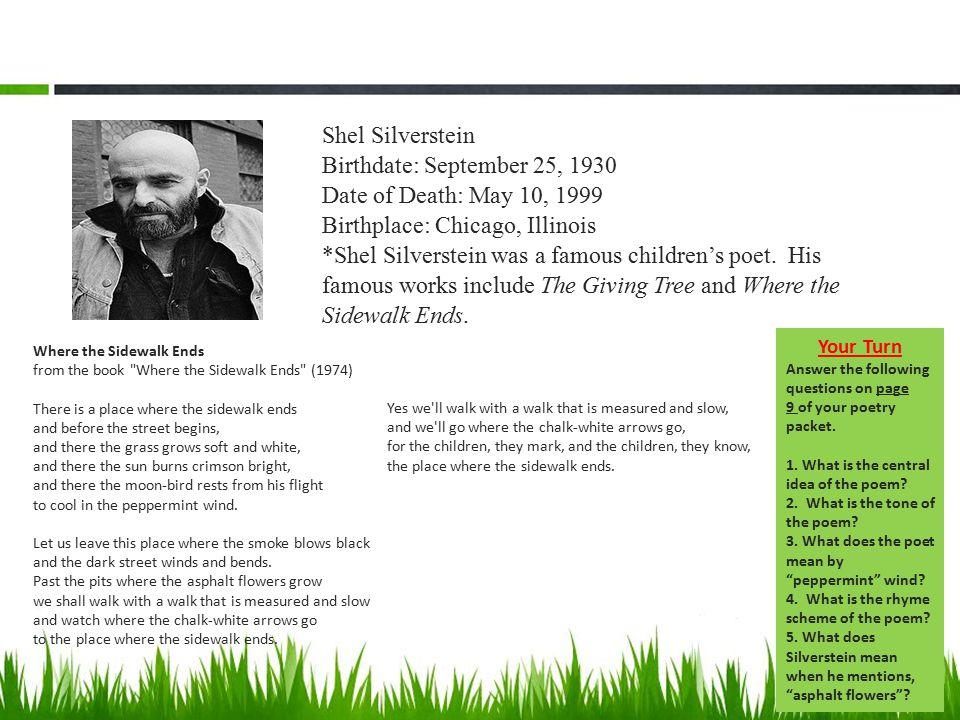 Shel Silverstein Death: Welcome To My Favorite Unit!