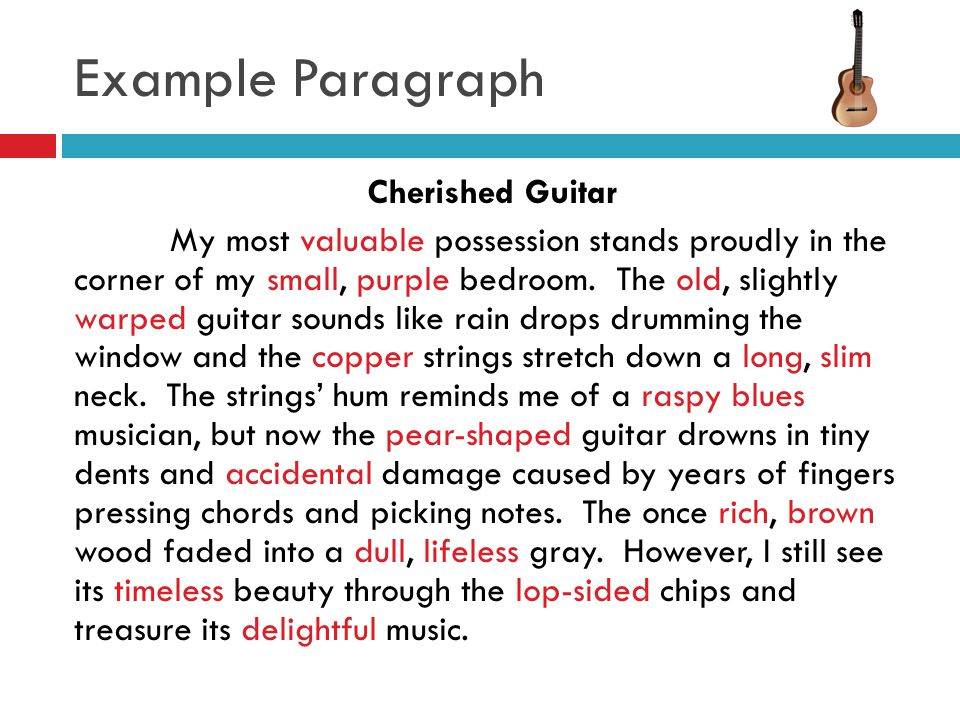 Descriptive essay of a guitar