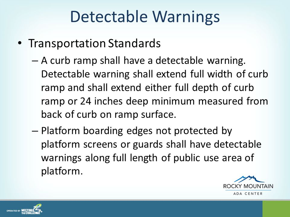 ramp standards for hospitals